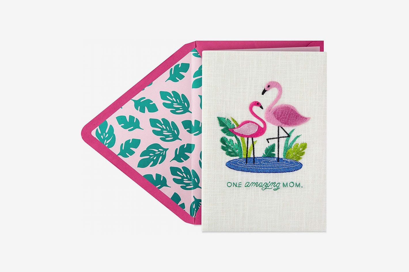 Hallmark Signature Mother's Day Card (Embroidered Flamingos)