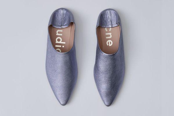 Amina Lavender Babouche Slides