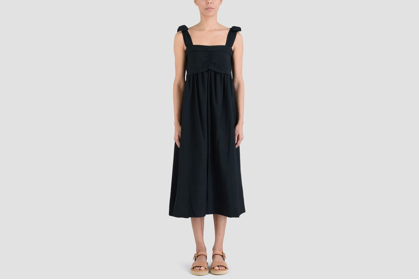 See by Chloé Sleeveless Tie-Shoulder A-Line Dress