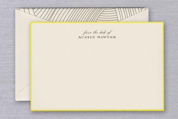 Crane & Co. Lido Ecru Bordered Correspondence Cards (Set of 25)