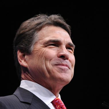 Former Republican presidential candidate, Texas Governor Rick Perry speaks during an address to the 39th Conservative Political Action Committee February 9, 2012 in Washington, DC