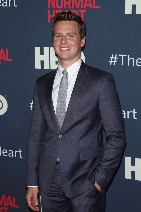 "NEW YORK, NY - MAY 12:  Actor Jonathan Groff attends ""The Normal Heart"" New York Screening at Ziegfeld Theater on May 12, 2014 in New York City.  (Photo by Jim Spellman/WireImage)"
