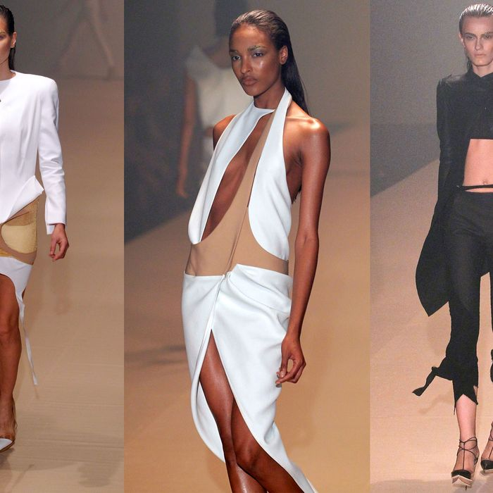 Looks from the spring 2012 Mugler show.
