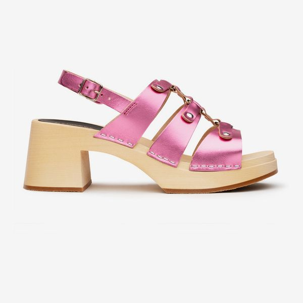 Swedish Hasbeens Brassy High Sandal