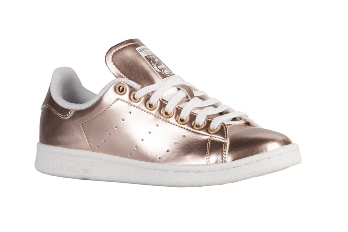Gold Metal. Gold metallic \u2014 not by Raf Simons. Adidas Originals Stan Smiths