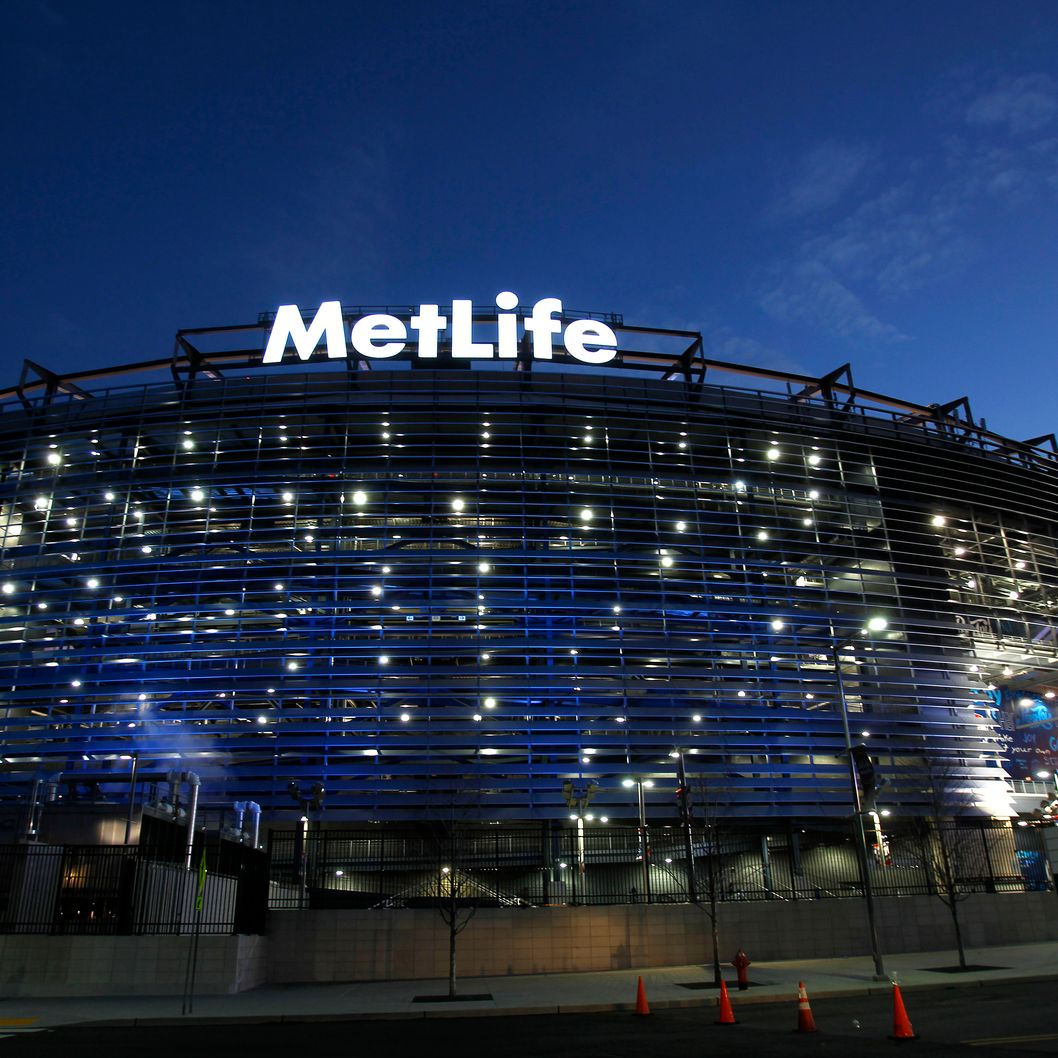 Exterior of MetLife Stadium before the start of the Dallas Cowboys vs New York Giants on January 1, 2012 in East Rutherford, New Jersey.