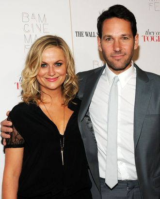 NEW YORK, NY - JUNE 23: Actors Amy Poehler (L) and Paul Rudd attend the