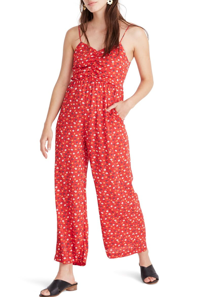 Madewell Ruched Wide-Leg Jumpsuit