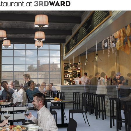 A rendering of the potential café.