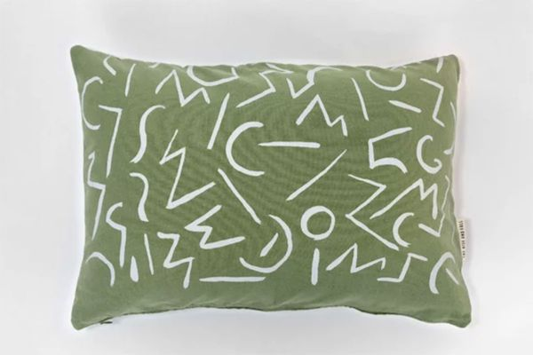 The Rise and Fall Glyphs Pillow