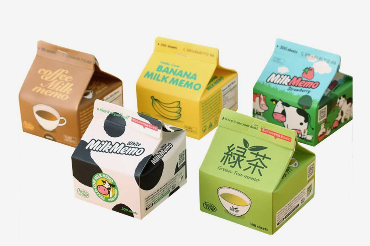 Aibearty Milk Box Creative Sticky Notes