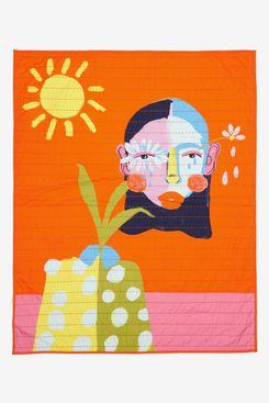Cristina Martinez Print Quilted Blanket