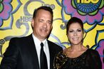 Actor Tom Hanks (L) and actress Rita Wilson arrive at HBO's Annual Emmy Awards Post Awards Reception at the Pacific Design Center on September 23, 2012 in West Hollywood, California.