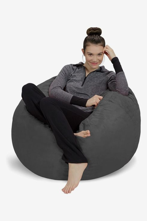 Bean Bag Chair Cover Lazy Lounger Cover Giant Memory Foam Furniture Bean Bag Storage Chair Cover Soft Faux Linen Cover