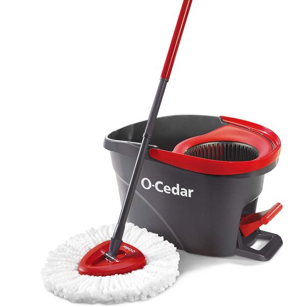 O-Cedar EasyWring Microfiber Spin Mop Bucket Floor Cleaning System