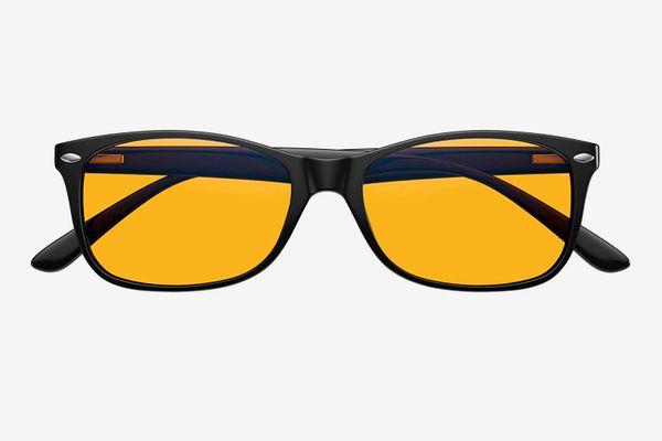 Swanwick Sleep Swannies Blue Light Blocking Computer Glasses with Orange Lens for Night Use