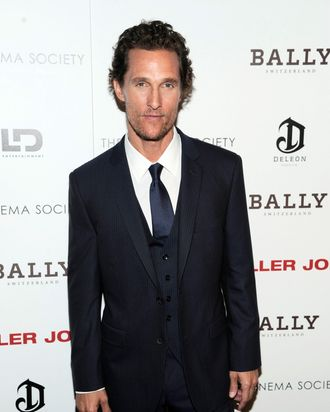 Matthew McConaughey - The Cinema Society with Bally & DeLe?n Host a Screening of LD Entertainment's