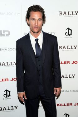 "Matthew McConaughey==The Cinema Society with Bally & DeLeÛn Host a Screening of LD Entertainment's ""Killer Joe""==Tribeca Grand Hotel, NYC==July 23, 2012==©Patrick McMullan==Photo - Nicholas Hunt/ PatrickMcMullan.com== =="