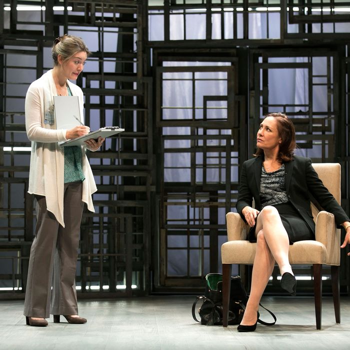THE OTHER PLACE - By Sharr White, directed by Joe Mantello - Pictured (L to R): Zoe Perry as 'The Woman' and Laurie Metcalf as 'Juliana Smithton.'