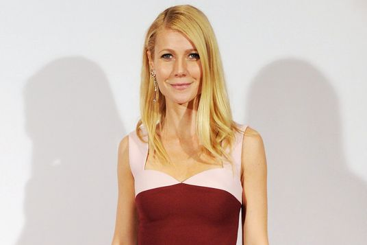 LONDON, ENGLAND - DECEMBER 02:  Gwyneth Paltrow poses in the winners room at the British Fashion Awards 2013 at London Coliseum on December 2, 2013 in London, England.  (Photo by Stuart C. Wilson/Getty Images)