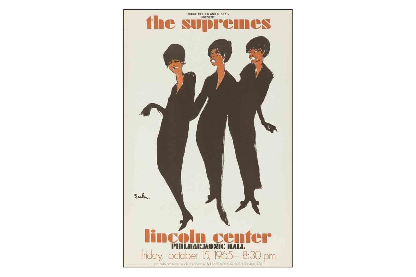 Lantern Press the Supremes — Lincoln Center Vintage Poster