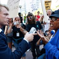 Occupy Los Angeles Holds March And Rally On One-Year Anniversary