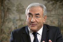 PARIS, FRANCE - OCTOBER 1:  In this handout photo supplied by the International Monetary Fund (IMF), Former French Finance Minister Dominique Strauss-Kahn and newly appointed Managing Director of the International Monetary Fund (IMF) speaks during an interview with CNN at the IMF on October 1, 2007 in Paris France. The Executive Board of the IMF elected Dominique Strauss-Kahn to serve as its new Managing Director and Chairman on September 28, 2007 for a five-year term starting on November 1, 2007.  Dominique Strauss-Kahn vowed to restore faith in the trouble Institution in the face of increasing global competition. (Photo by Eugene Salazar/IMF via Getty Images)