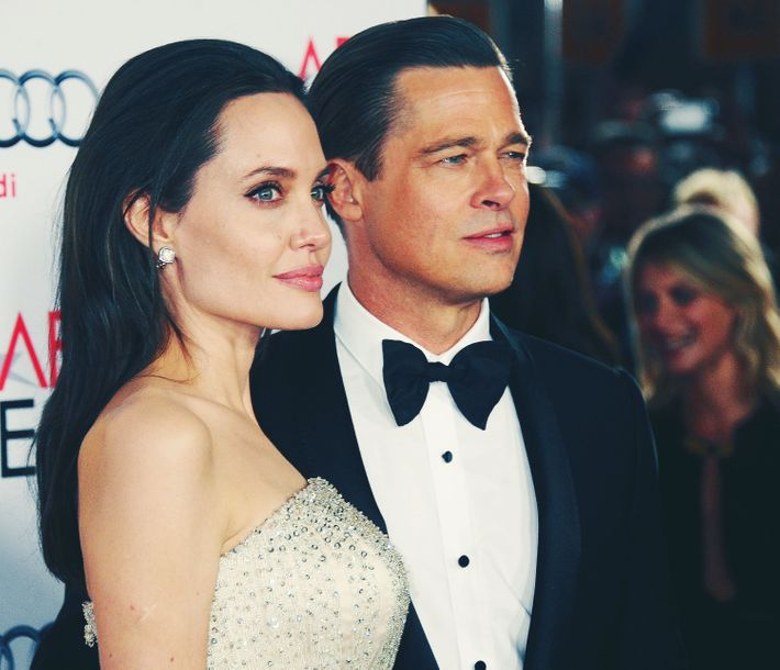 Angelina Jolie and Brad Pitt.