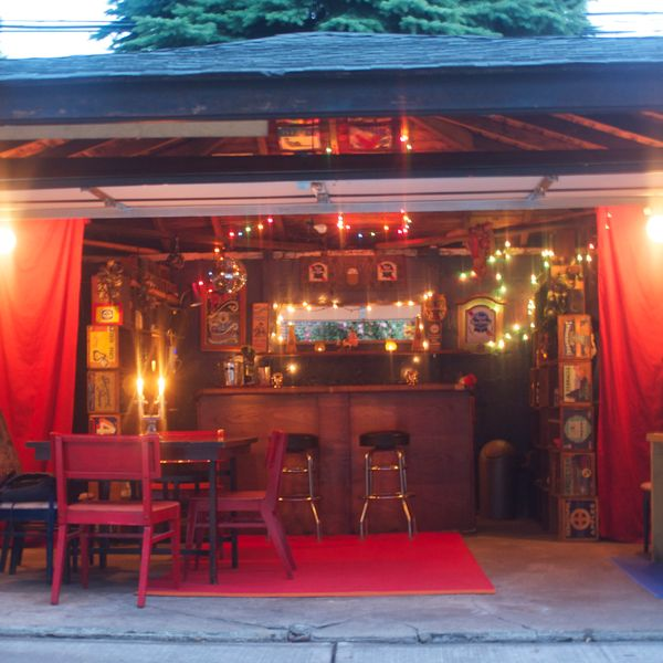 The World's Chillest Couple Turned Their Garage Into a Totally Sweet Tiki Bar