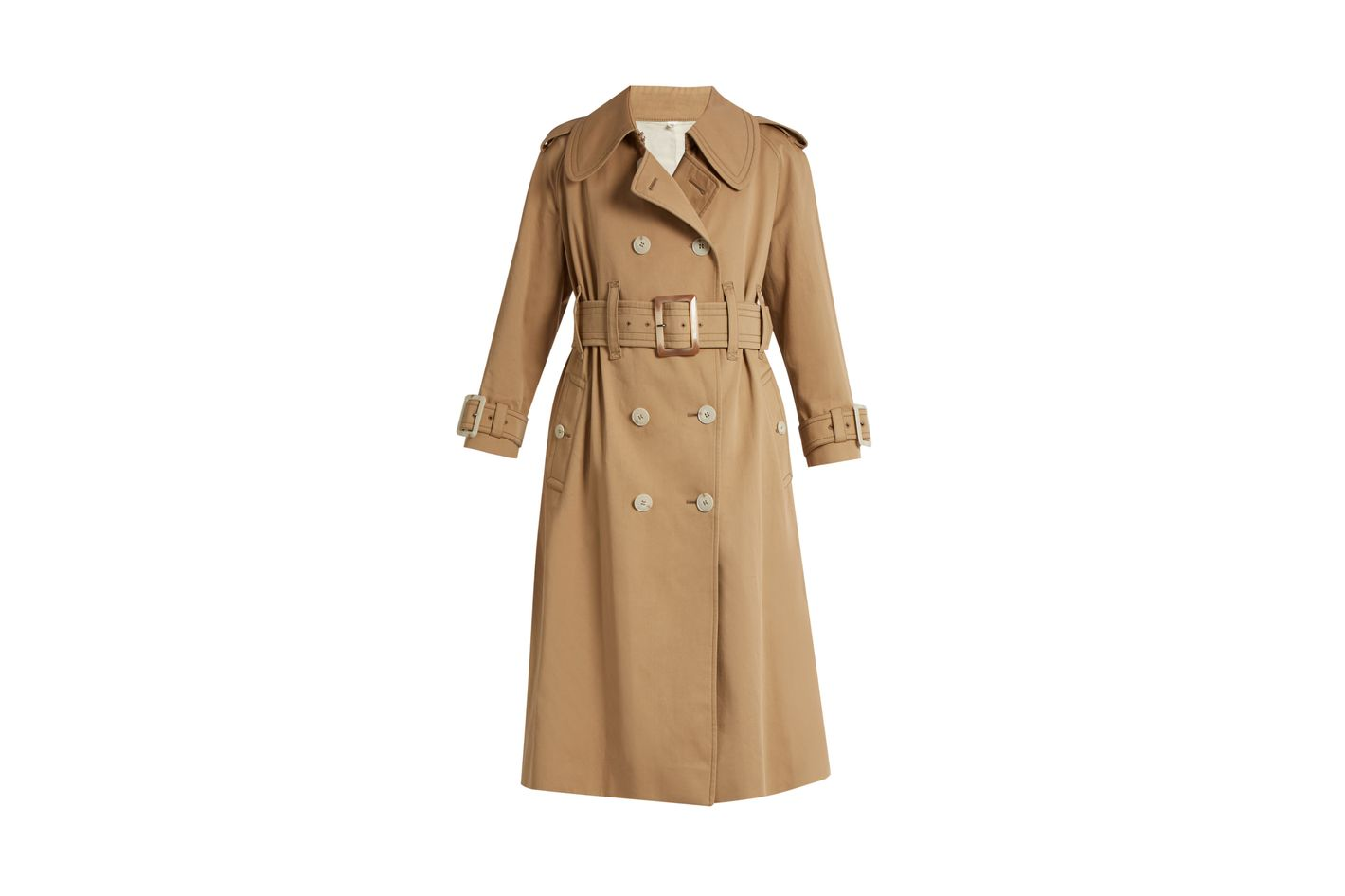 ALEXACHUNG Belted Double Trench Coat