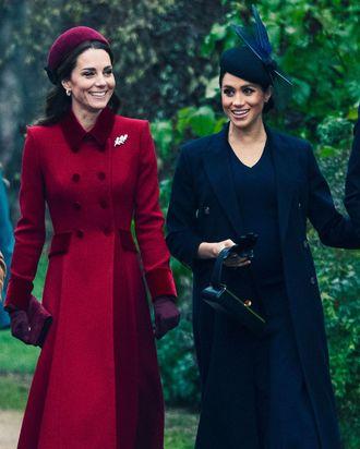 Kate Middleton and Meghan Markle on Christmas.
