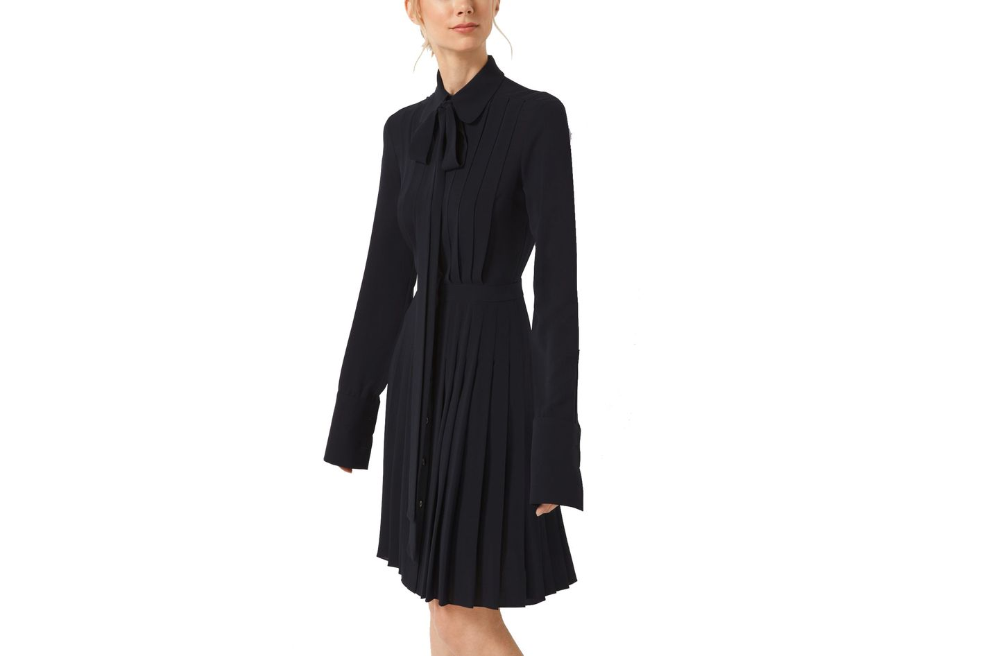 Michael Kors Collection Pleated Silk-Georgette Shirt Dress