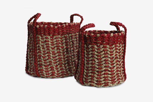 Elements Red Seagrass Baskets