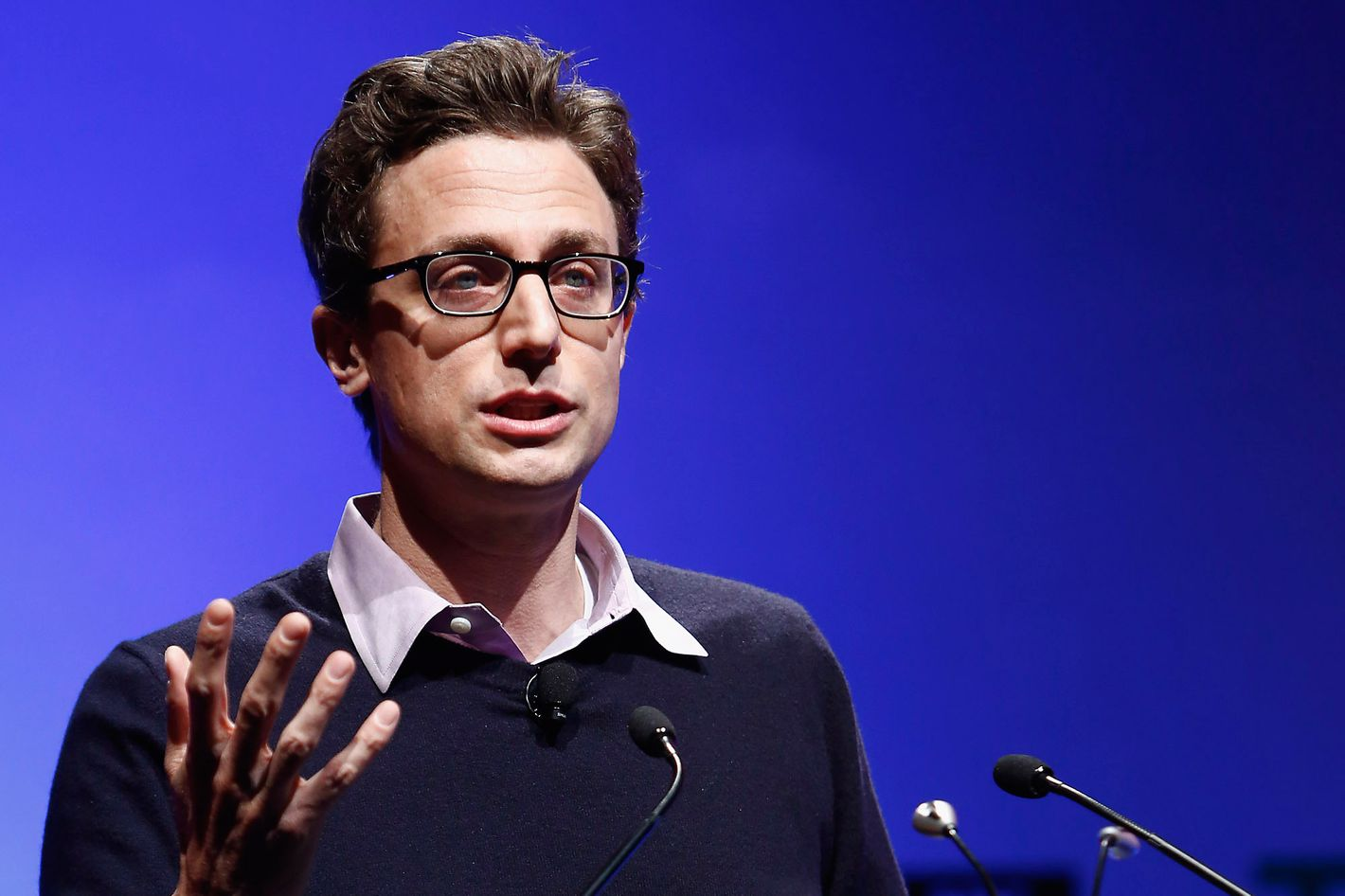 Jonah Peretti of Buzzfeed speaks onstage at the TechCrunch Disrupt NY 2013 at The Manhattan Center on April 29, 2013 in New York City.