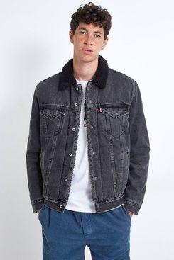 Levi's Type 3 Black Denim Sherpa Jacket