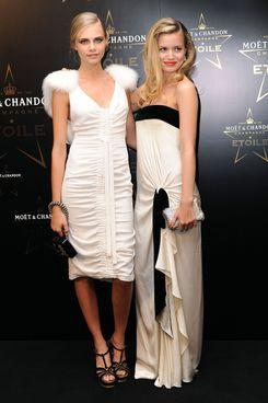 Georgia May Jagger and Cara Delevingne.