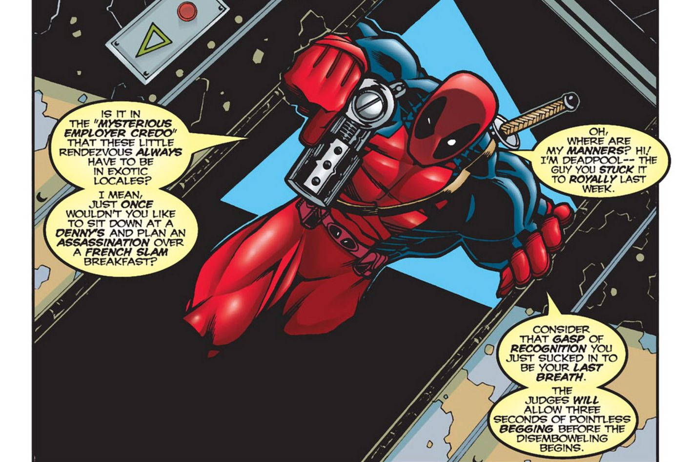 Image result for deadpool comic outsider