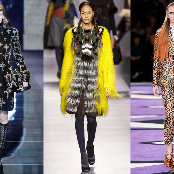 From left: Versace, Fendi, and Prada; Imaxtree