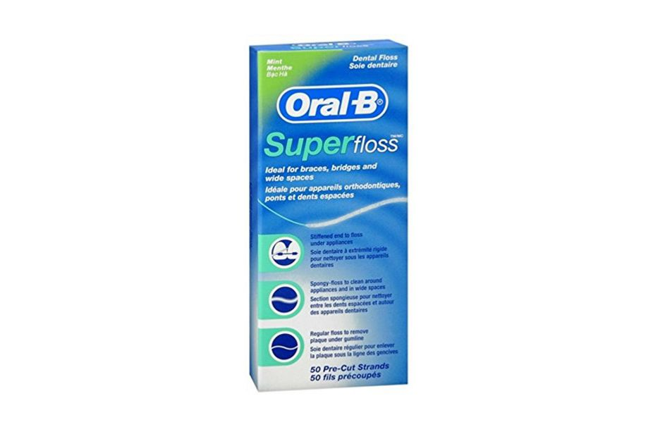 Oral-B Super Floss Mint Dental Floss Pre-Cut Strands, 2-Pack