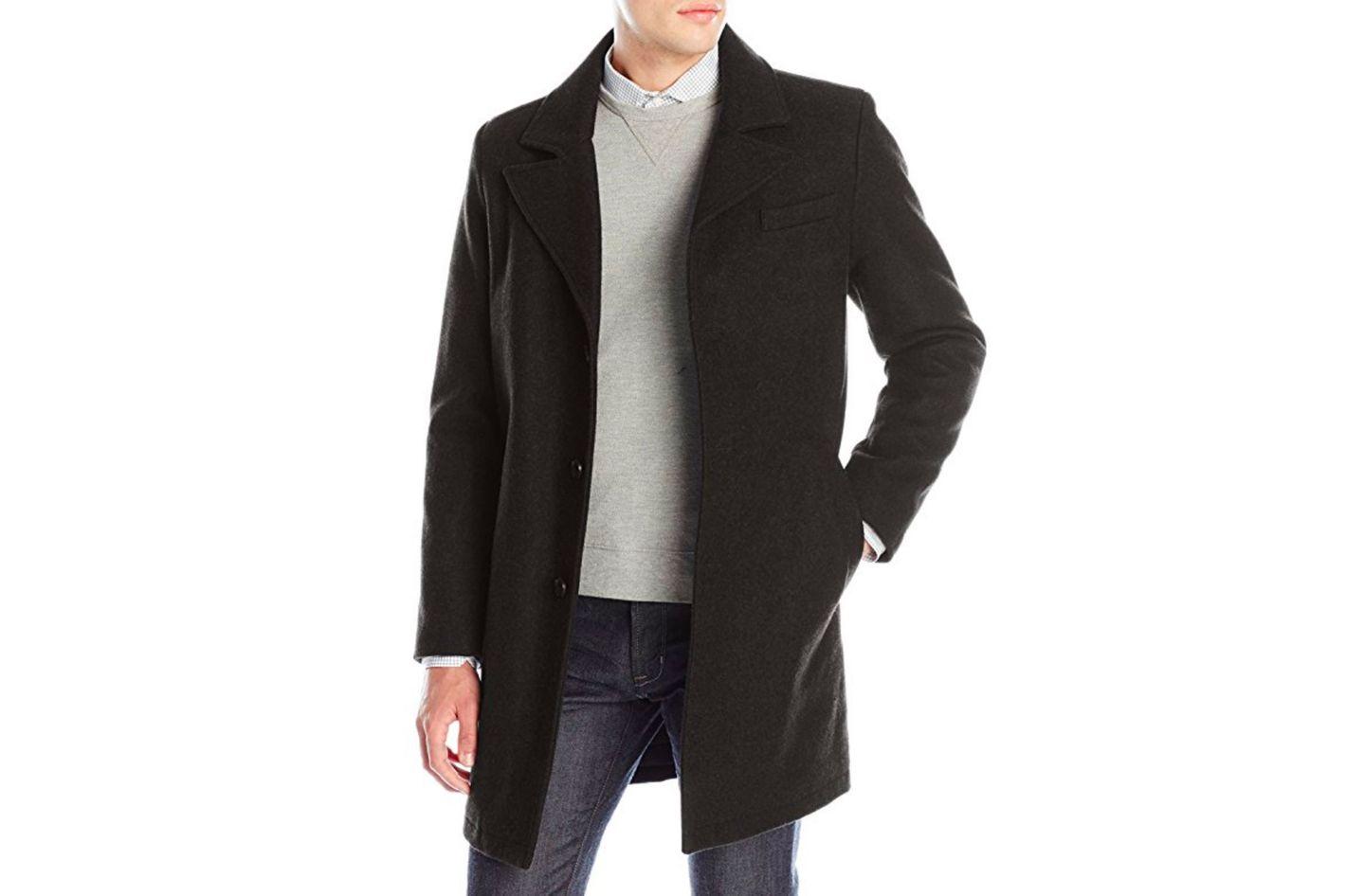 Kenneth Cole New York Men's Single-Breasted Wool Walker