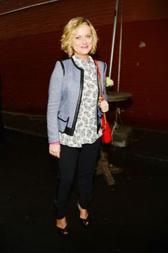 Amy Poehler at Stella McCartney's Spring 2014 collection presentation, W 10th St, NYC, June 10, 2013.