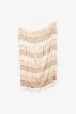 Minna Grid Alpaca Throw Blanket