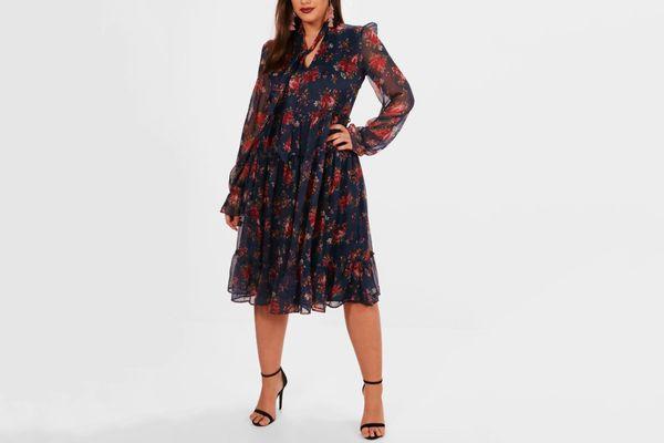 Katie Woven Midi Dress
