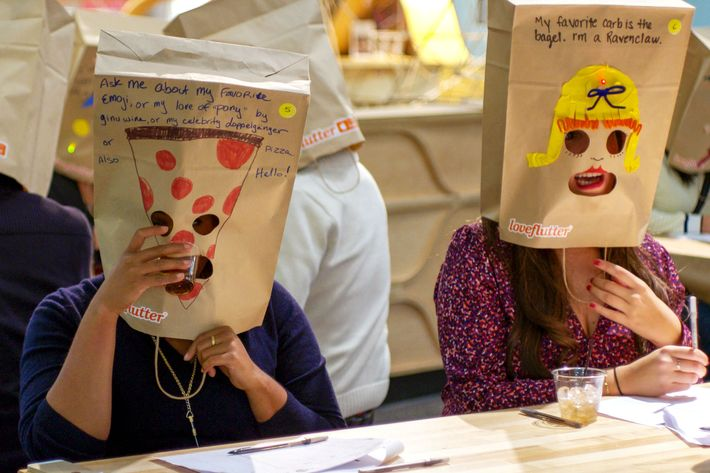 Paper bag speed dating