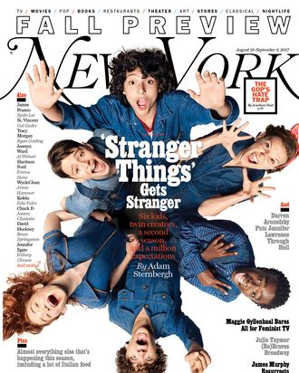 stranger things cast on the cover of ny mag s fall preview new