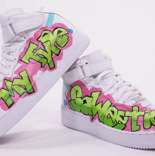 "Nike Air Force 1 Sneakers Customized by Artist Terrance Marley and Worn by Saweetie in the ""My Type"" Video"