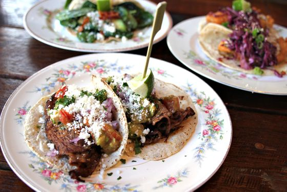 "<b>What to Order:</b> Grilled Ribeye, Pork Carnitas and Crispy Fish Tacos  <i>1360 N. Milwaukee; 773-687-8697</i>; <a href=""http://chicago.menupages.com/restaurants/antique-taco"">See the Listing</a>  The name of the newest foodie taco joint in town suggests a return to authentic recipes of long ago, but actually ""antique"" just refers to the decor. These artfully-composed plates give classic taco fillings— pork, steak, spicy chicken— a new spin with quality ingredients and interesting toppings (like the smoked cabbage and sriracha tartar sauce on the fish tacos)."