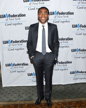 Donald Glover attends the UJA-Federation's Music Visionary Of The Year Award Luncheon at The Pierre Hotel on July 12, 2012 in New York City.