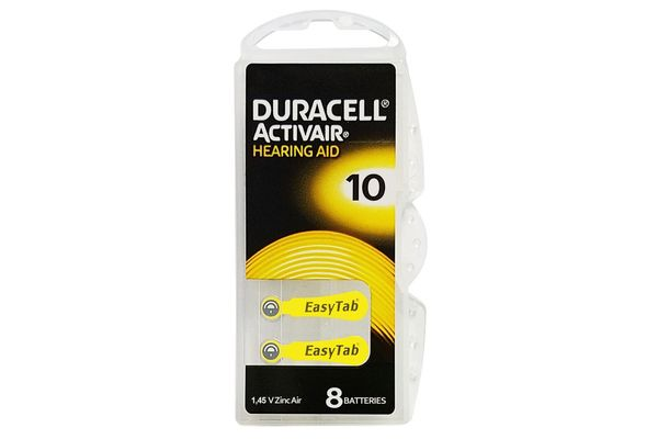 Duracell Activair Hearing Aid Batteries: Size 10 (80 Batteries)