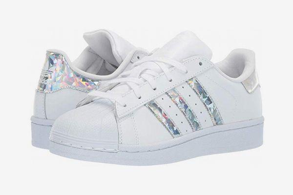 Adidas Originals Kids Supestar J White/Silver (Big Kid)